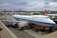 HL7454 @ LSZH - Boeing 747-2B5BF [22482] (Korean Air Lines) Zurich~HB 26/09/1984. From a slide.