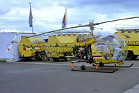 D-HITT @ EDBK - Bell 47G-4A [7746] Bonn-Hangelar~D 02/05/1983. From a slide. - by Ray Barber