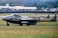 G-DHZZ @ EGLF - Taxying for take off at the 1998 Farnborough International Air Show. - by kenvidkid