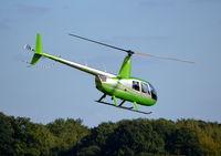 G-ROYM @ EGLD - Robinson R44 Raven II at Denham. - by moxy