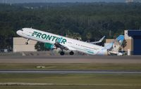 N704FR @ MCO - Frontier Virginia the World
