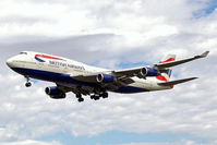 G-CIVF @ EGLL - Boeing 747-436 [25434] (British Airways) Heathrow~G 01/09/2006. On finals 27L.