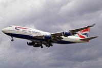 G-CIVA @ EGLL - Boeing 747-436 [27092] (British Airways) Heathrow~G 31/08/2006. On finals 27L.