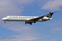 SE-DMB @ EGLL - McDonnell Douglas DC-9-81 [53314] (SAS Scandinavian Airlines) Heathrow~G 01/09/2006. On finals 27L.
