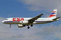 OK-GEA @ EGLL - Airbus A320-214 [1439] (CSA Czech Airlines) Heathrow~G 01/09/2006. On finals 27L.. Former scheme.