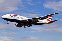 G-CIVD @ EGLL - Boeing 747-436 [27349] (British Airways) Heathrow~G 01/09/2006. On finals 27L.