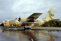1619 @ EGVI - Lockheed C-130H Hercules [4756] (Royal Saudi Air Force) RAF Greenham Common~G 24/06/1979. From a slide.