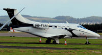 9H-FAM @ EGPN - At Dundee Riverside Airport EGPN, slightly obscured,  for the Annual Golf Dunhill Links Championships, held at nearby St Andrews. - by Clive Pattle