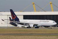 OO-SFU @ EBBR - Full throttle for take off on rwy 07R. - by Raymond De Clercq