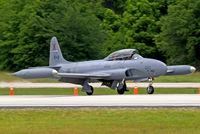 N133DV @ KLAL - Lockheed CT-133AUP Silver Star Mk.3 [T33-610] Lakeland-Linder~N 16/04/2010. Ex Royal Canadian Air Force scheme. - by Ray Barber