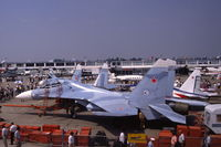 389 @ LFPB - Sukhoi Su-27UB Flanker-C fighter at Le Bourget, 1989 - by Van Propeller