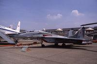 304 @ LFPB - Mikoyan MiG-29UB Fulcrum-B at Le Bourget, 1989 - by Van Propeller