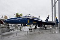 163106 - Blue Angel #2 at the Air Park Pavilion at the Museum of Flight. She has been retired from flying and this is one of 2 Blue Angel a/c that is there. - by Eric Olsen