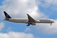 HZ-AK22 @ EGLL - Boeing 777-368ER [41059] (Saudia) Home~G 03/06/2015. On approach 27L.