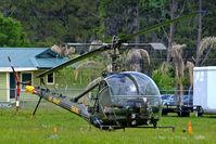 N4287C @ KLAL - N4287C   Hiller H-23A Raven [269] Lakeland-Linder~N 16/04/2010. Wears former military marks and colour scheme.
