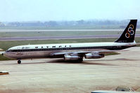 SX-DBO @ EGLL - Boeing 707-351C [19164] (Olympic Airways) Heathrow~G @ 17/05/1979. Date approximate from a slide.