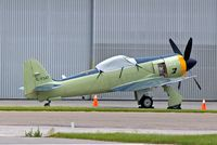 C-FGAT @ CYYC - Hawker Sea Fury T.20 [41H/623282] Calgary Int'l~C 22/07/2008 - by Ray Barber