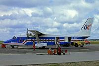 G-BLPY @ EKEB - Shorts SD-360-300 [SH3413] (Air UK) Esbjerg~OY 14/06/1985. From a slide.