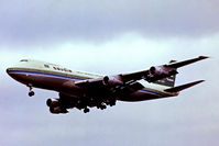 OD-AGH @ EGLL - Boeing 747-2B4BF [21097] (Saudia Arabian Airlines) Heathrow~G 14/05/1979. On finals 28R. From a slide.