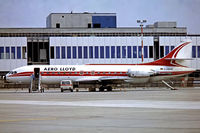 D-ABAK @ EDDF - Sud Aviation SE.210 Caravelle 10B1R [232] (Aero Lloyd) Frankfurt~D 26/05/1984. From a slide.