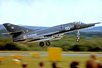 115 @ EGVI - Dassault Etendard IVPM [115] (French Navy) RAF Greenham Common~G 26/06/1977. From a slide. - by Ray Barber