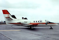 N10 @ EGVI - Cessna Citation I [500-0084] (FAA-Federal Aviation Administration) RAF Greenham Common~G 07/07/1974. From a slide not the best of images required a lot of cleaning..