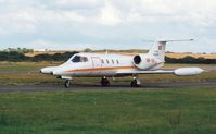 HB-VIF @ EGFH - Visiting Learjet 36A operated by Air Glaciers. Summer 2001. - by Roger Winser