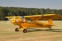 D-EIBL @ EDST - Taxying for departure at the 2016 Hahnweide Oldtimer Fliegertreffen - by alanh