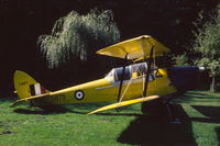 C-GMFT @ N.A. - DH-82C Tiger Moth in the Canadian Museum of Flight & Transportation, in Surrey, Vancouver, 1987. At that time it still had its original RCAF number 5875. - by Van Propeller