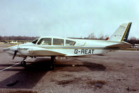 G-REAT @ EGTR - Grumman-American GA-7 Cougar [GA7-0033] Elstree 10/04/1979. From a slide.