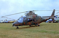 MM81011 @ EGVI - Agusta A-109A Hirundo [7112] (Italian Army) RAF Greenham Common~G 23/07/1983. From a slide.