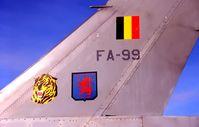 FA-99 @ EBBL - F-16A.1997-10.31 TIGER SQUADRON.