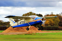 G-ATDO @ EGBR - Departing to the east - by glider