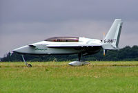 G-RAFT @ EGBP - Rutan Long-Ez [PFA 074A-10734] Kemble~G 02/07/2005. Note with title (longeze) in front of the cabin no hyphen between Long and eze and also the spelling of Eze  not Ez as normally used.