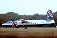 PH-FCX @ EGLF - Fokker F-27-400MPA Friendship [10183] (Fokker) Farnborough~G 10/09/1976. From a slide.