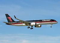 N757AF @ KSFB - Trump 757 arriving at Orlando Sanford International Airport (SFB) 10/25/2016 - by Steve Kurtz
