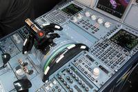 N151UW @ CLT - throttle pedestal - by Bruce H. Solov