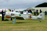 G-CCFW @ EGBP - W.A.R. Focke-Wulf Fw.190 Replica [PFA 081-12729] Kemble~G 02/07/2005