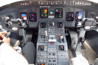 N936XJ @ EWR - flight deck - by Bruce H. Solov