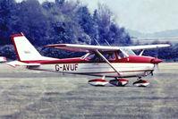 G-AVUF @ EGTH - R/Cessna F.172H Skyhawk [0477] Old Warden~G 30/06/1974. From a slide.