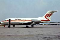PH-MOL @ EHAM - Fokker F-28-1000 Fellowship [11003] (Martinair Holland) Amsterdam-Schiphol~PH 29/08/1976. From a slide.