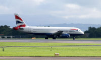 G-EUYJ @ EGCC - BA taxy for departure at EGCC - by Clive Pattle
