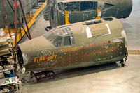 41-31773 @ KIAD - 'Flak-Bait' undergoing restoration at the Mary Baker Engen Restoration Hangar, Steven F. Udvar-Hazy Center. This B-26 flew 207 missions over Europe, the most by any USAAF bomber. Gen. Arnold decided to preserve this veteran of D-Day.