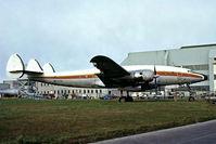 N7777G @ EIDW - Lockheed L-749A Constellation [2553] (Lanzair) Dublin Int'l~EI 16/04/1979. From a slide.