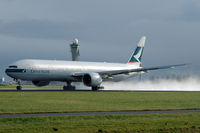 B-KQQ @ EHAM - Cathay Pacific Airways Boeing 777-367ER taking off from a wet runway at Schiphol airport, the Netherlands - by Van Propeller
