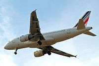 F-GRHK @ EGLL - Airbus A319-111 [1190] (Air France) Home~G 25/06/2015. On approach 27R.
