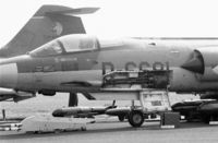 D-6681 @ EHDP - F-104G of the Royal Netherlands Air Force showing its 20mm Vulcan cannon at De Peel air base, The Netherlands, 1980 - by Van Propeller