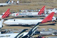 VH-OJI @ KMHV - Qantas B744 in MHV - by FerryPNL