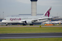 A7-BDA @ EGCC - Qatar Airways Boeing 787-8 Dreamliner flight QR27 arrival from Doha (DOH) - by Milan