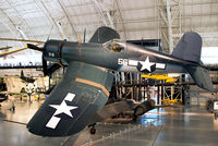 50375 @ KIAD - On display at the Steven F. Udvar-Hazy Center, National Air and Space Museum. This Corsair is painted in the colors of VMF-114 Death Dealers. The squadron was deployed to Peleliu from Sept. 1944 to June 1945. - by Arjun Sarup